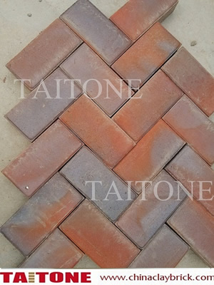 Clinker Clay pavers- Red Roan color