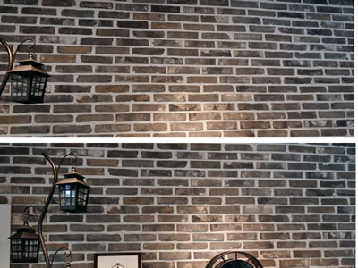 old grey bricks for wall decoraction