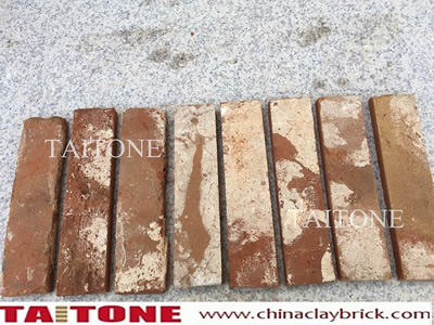 red used brick veneers for wall decoration