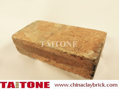 Yellow reclaimed refractory bricks