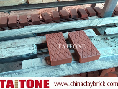 Blue diamond bricks pavers
